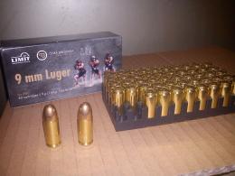 Náboje, střelivo 9mm Luger 139grs FMJ CuZn10 I.P.S.C. - zvětšit obrázek